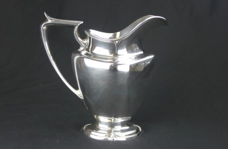 antique silver water pitcher
