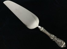 antique sterling silver cake server