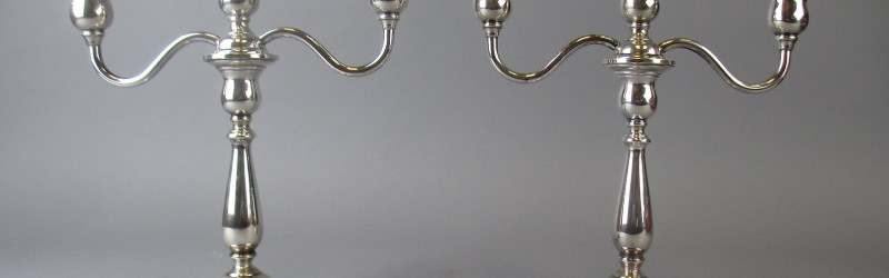 Sterling Silver International PRELUDE 3-Light Candelabras