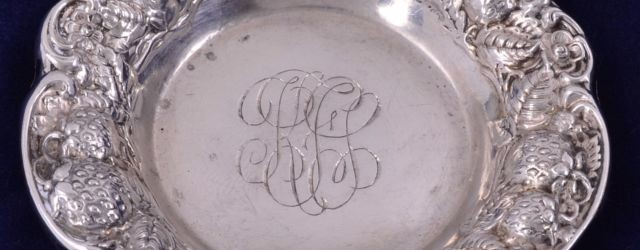 vintage silver butter pats