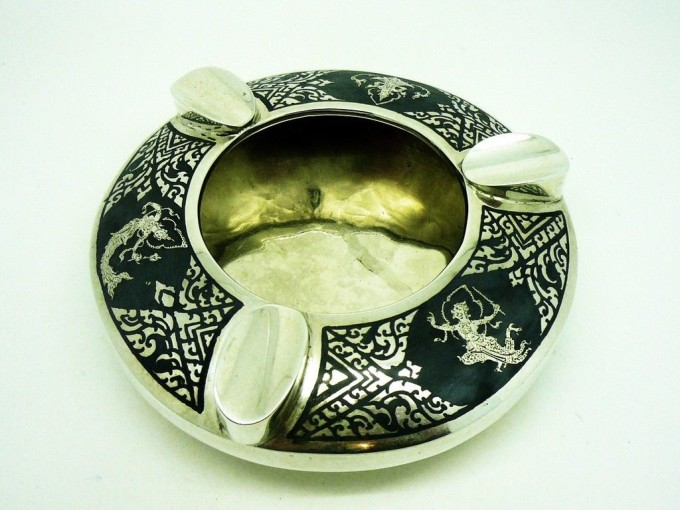 Silver Ash Tray Ashtray