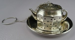 sterling silvet tea infuser ball