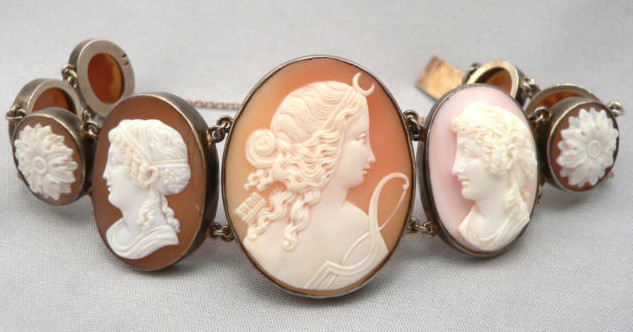 vintage sterling silver cameo