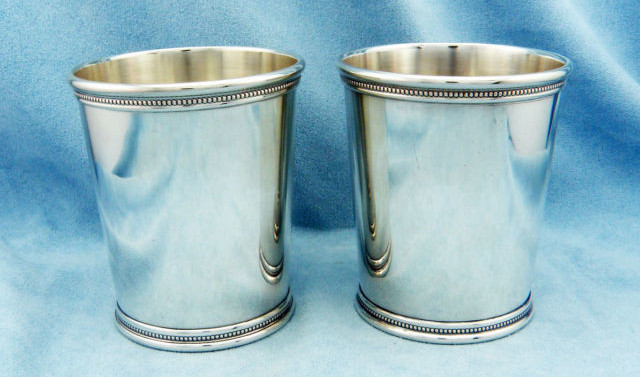 vintage sterling silver mint julep cups