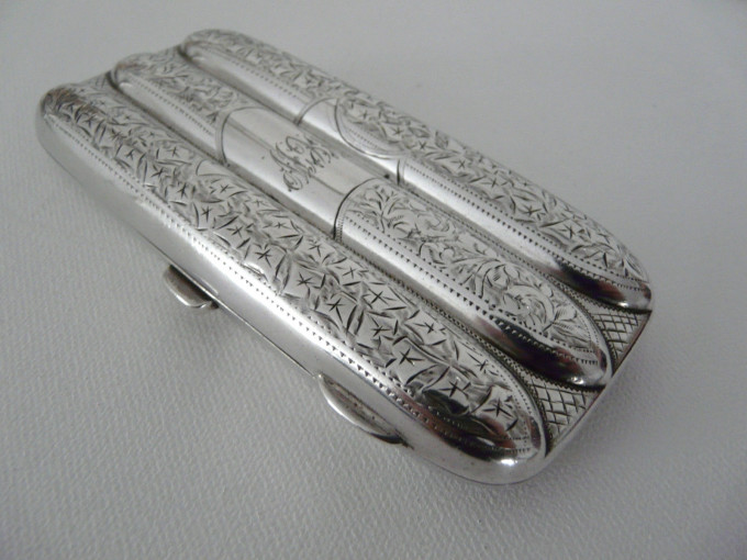 Antique Sterling Silver Cigar Cases