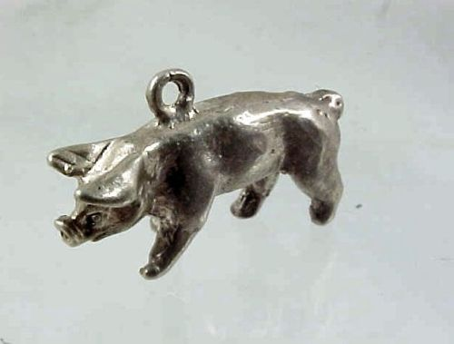 Vintage Sterling Silver Pig Charms